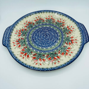 Polish Pottery CA Traditional Cake Platter With Handles